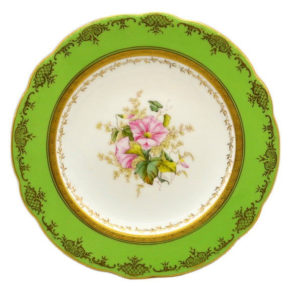 Coalport floral china caninet plate convulvulus antique china c1910