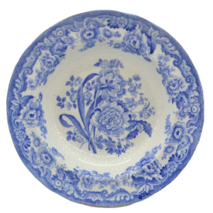 Copeland antique china blue and white soup bowl