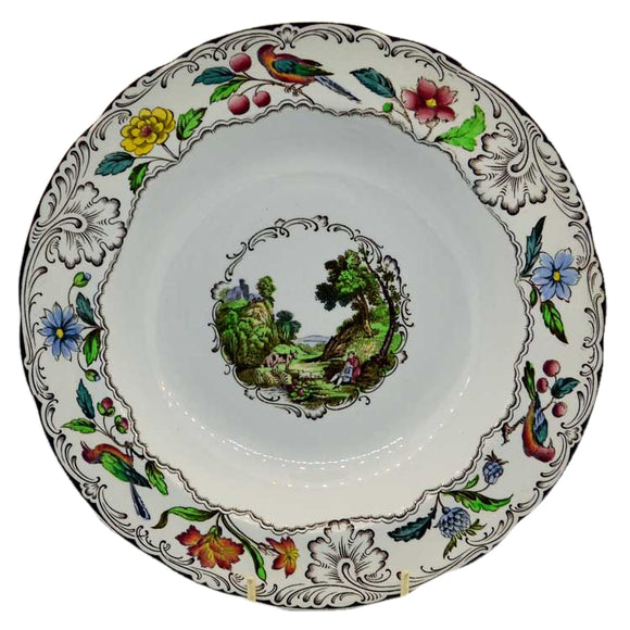 Superb vintage Spode's Gobelin large soup bowl