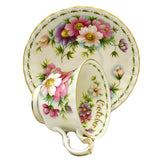 Royal Albert Flowers of the Month Series Floral China TeaCup