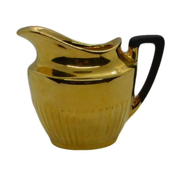 Crown Devon gilt milk jug