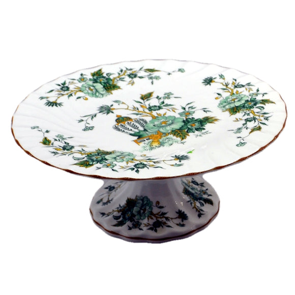 collectors china crown staffordshire cake stand pattern kowloon from 1930-1948