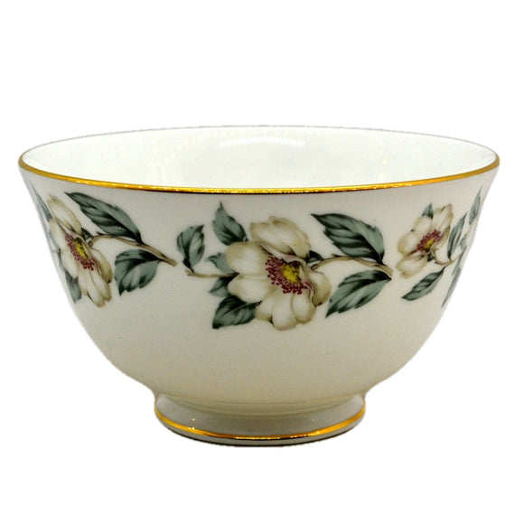 Vintage Crown Staffordshire Porcelain Floral China Sugar Bowl c1930