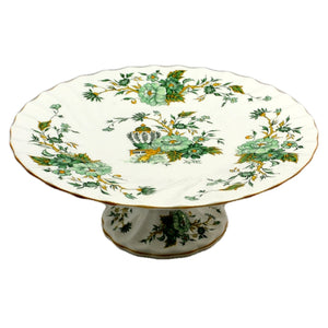 Crown Staffordshire Kowloon Porcelain China Cake Stand 10.5-inch