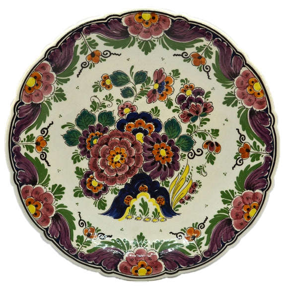 Vintage Delfts Polychrome hand Painted Wall Plate
