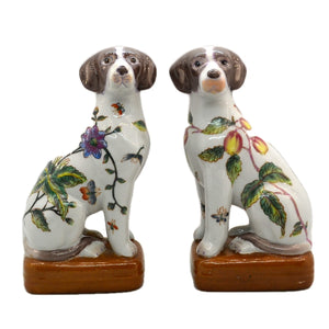 Floral Dog Ornament Bookends