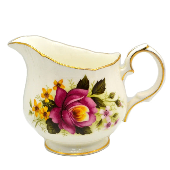 Duchess Bone China 344 Red and Yellow Roses Milk Jug