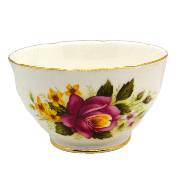Duchess Bone China 344 Red and Yellow Roses Open Sugar Bowl