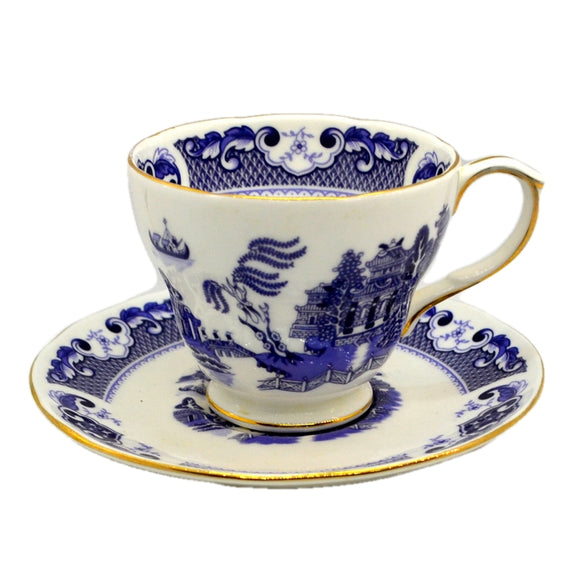 Duchess Bone China Blue Willow Tea Cup and Saucer
