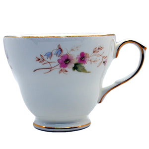 vintage Duchess bone china tea cups glen pattern 316