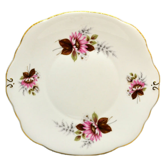 A T Finney & Sons Duchess Floral China Pink Daisy Cake Plate