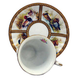 superb demitasse cup and saucer duck design