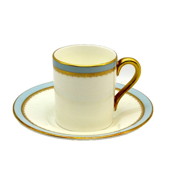 Elijah Bain Foley China Versaille demitasse Coffee Can and Saucer c1964