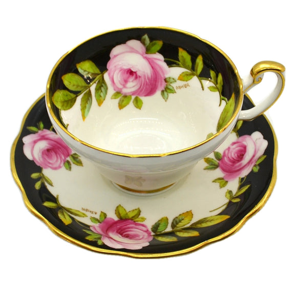 Elijah Brain Foley China Floral Teacup and Saucer 1948-1963 V2785