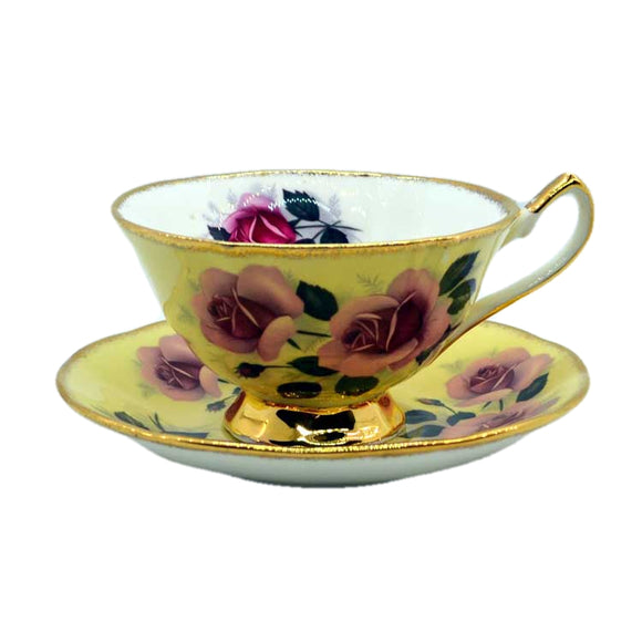 Elizabethan Floral China open bowl tea cup and saucer set