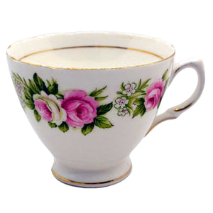 Colclough enchnatment pattern c shape tea cup scalloped rim