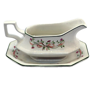 Johnson Brothers China Eternal Beau Gravy Jug and Saucer