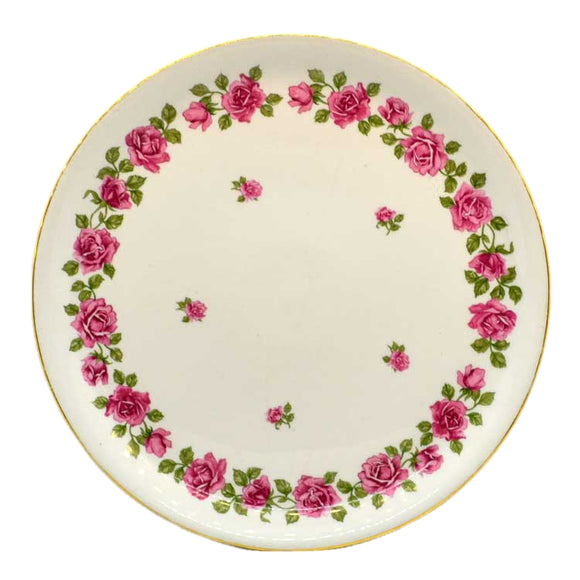 vintage floral cake or serving plate by pilivite