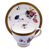 wedgwood floral gold china teacup