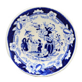 Samuel and John Rathbone Flow Blue China Saucer Plate c1812