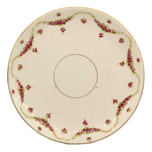Foley china antique floral china cake plate