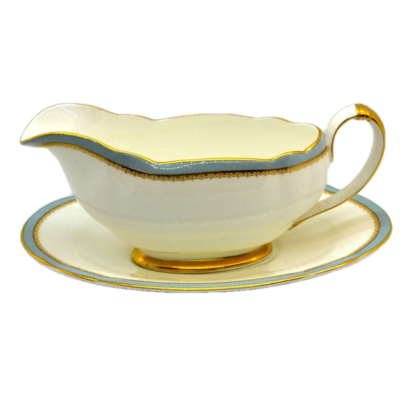 Elijah Bain Foley China Versaille Gravy Boat and Saucer 1948-1963