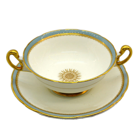 Elijah Bain Foley China Versaille Soup Cup and Saucer 1948-1963