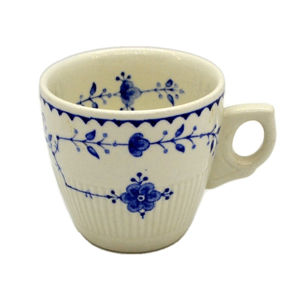Furnivals Denmark Blue and White China Demitassse Cup