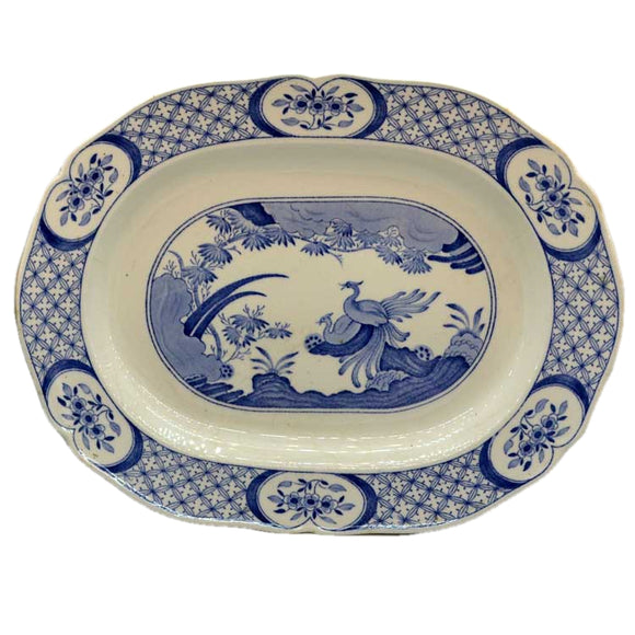 furnivals old chelsea blue and white serving platter