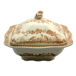Furnivals Quail Brown & White China Tureen and Lid Rd 684771