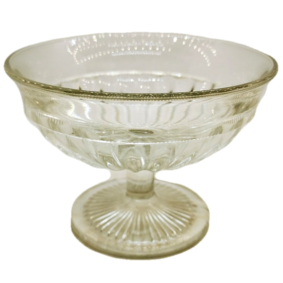 Antique Pressed Glass Pedestal Bowl