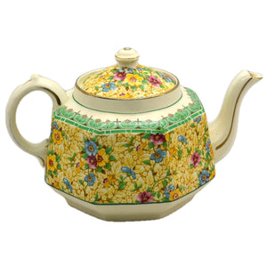 Gibsons Floral China Teapot 1923