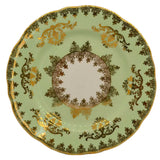 Gladstone lime green and gilt china side plates pattern 5846