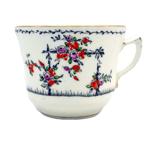 Gladstone floral china tea cups