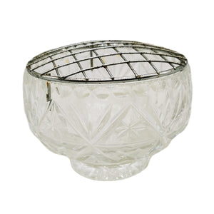 Glass Rose Bowl