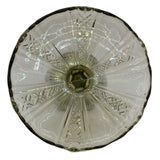 antique small glass cake stand