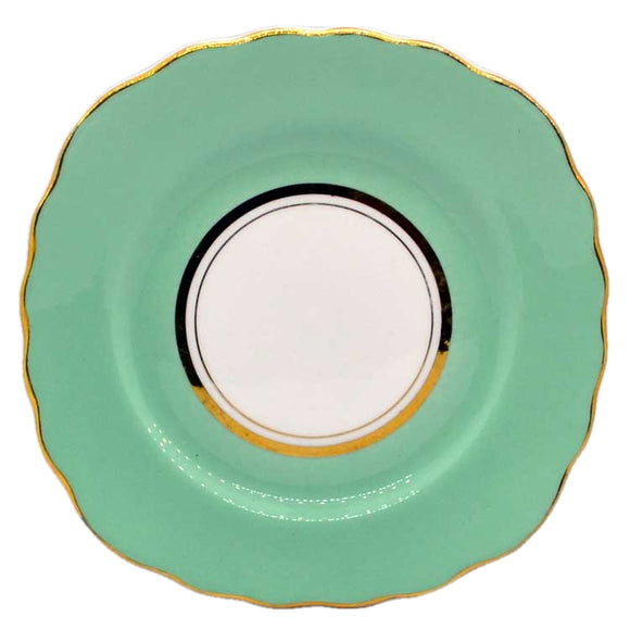 colclough harlequin ballet green side plate 1930's china