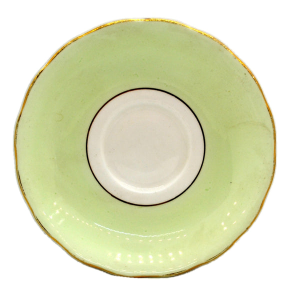 Colclough Harlequin China 6667 Peppermint Green Saucer