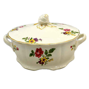 Grindley China Marlborough Royal Petal Floral Ironstone Lidded Tureen