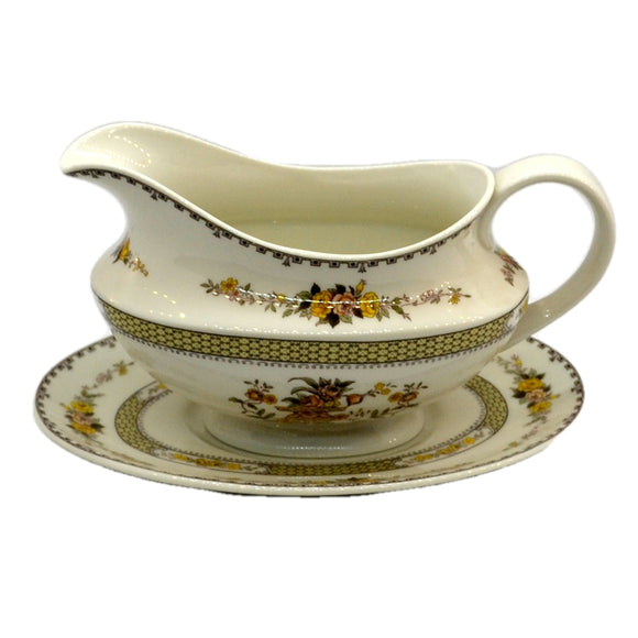 Royal Doulton China Hamilton TC1190 Gravy Boat Jug and Saucer