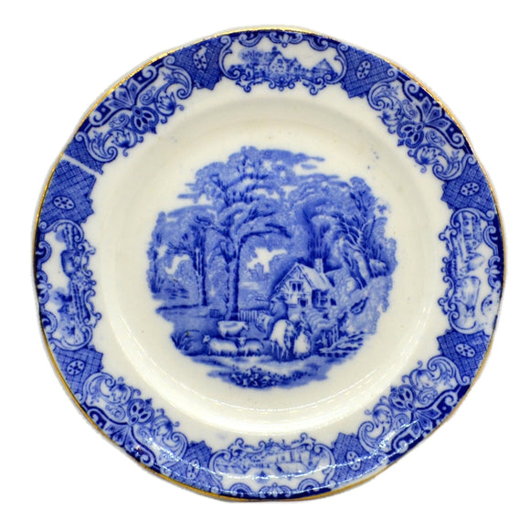 Heathcote Blue and White China Old English Scenery Side Plate