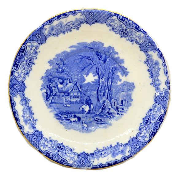 Heathcote Blue and White China Old English Scenery 8.75-inch Saucer Plate