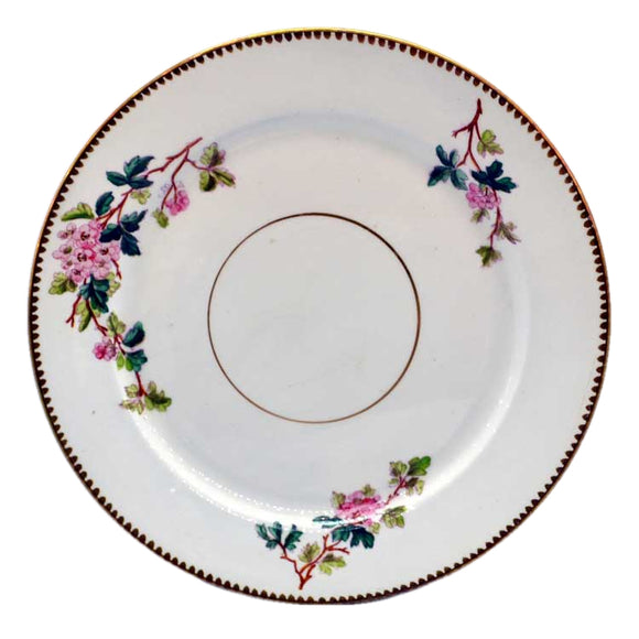 Antique Henry Alcock floral china dinner plates
