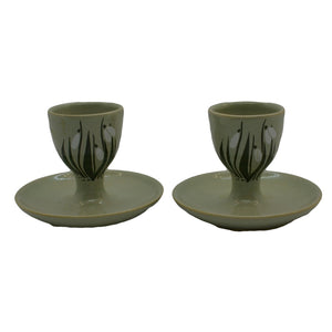 Holkam hall pottery norfolk vintage egg cups