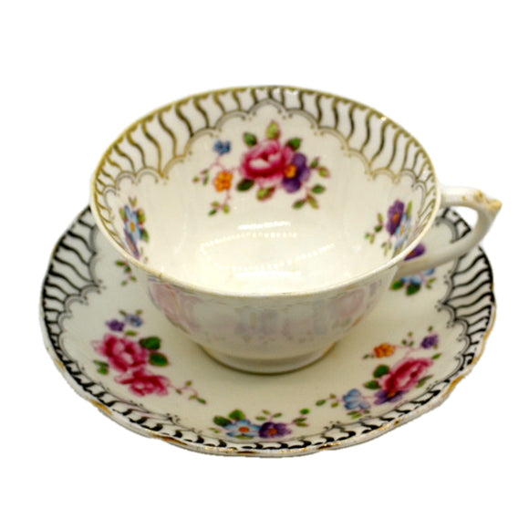 Antique R H & S L Plant Tuscan China Teacup 7315