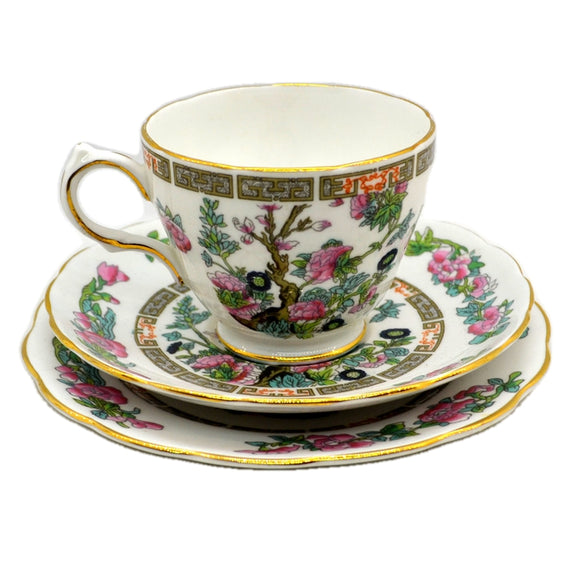 Grosvenor Bone China Indian Tree Teacup trio