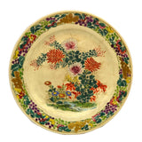 antique floral hand decorated china plate
