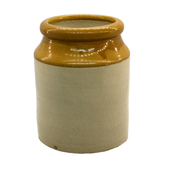 Vintage Salt-Glazed Stoneware Jar 7-7/8th-inch