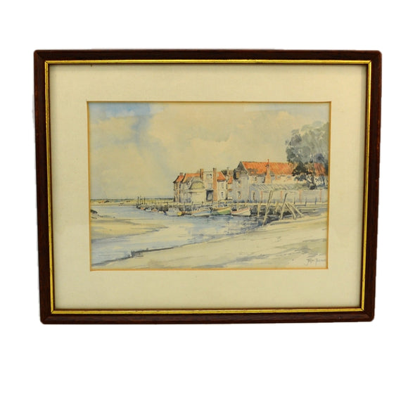 Jason Partner Framed Watercolour Print of Blakeney Quay Norfolk