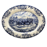 vintage johnson brothers blue and white china platter